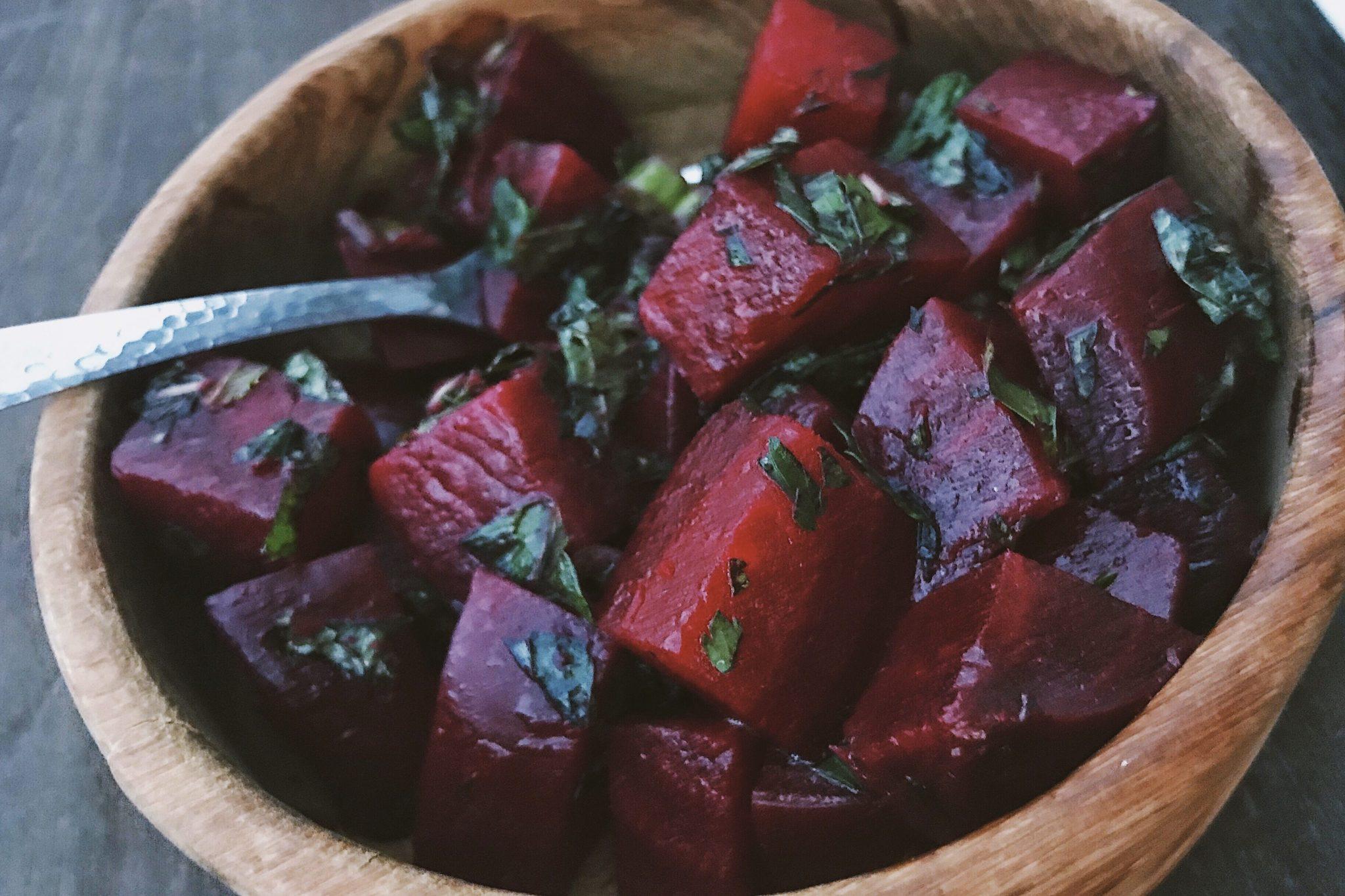 beet & mint salad